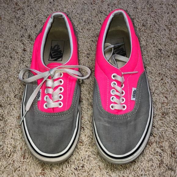 Vans Shoes | Neon Pink And Gray Vans